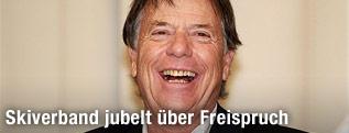 ÖSV-Präsident Peter Schröcksnadel lachend