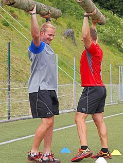 """Georg Streitberger und Romed Baumann beim """"Warrior-Training"""""""