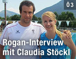 Markus Rogan und Claudia Stöckl
