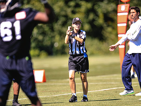 NFL-Referee Shannon Eastin bei einem Training