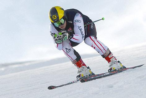 Marcel Hirscher beim Skitraining in Zermatt