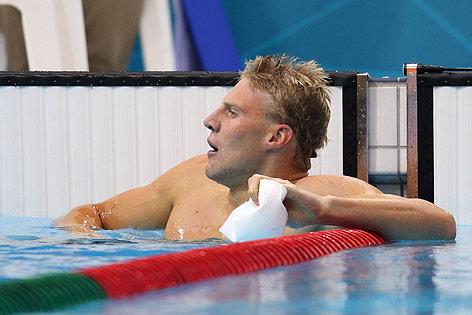 Dinko Jukic im Schwimmbecken