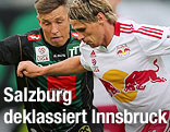 Christopher Wernitznig (Wacker) und Christoph Leitgeb (Red Bull Salzburg)