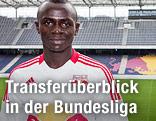 Salzburgs Neuzugang Sadio Mane im Stadion in Wals-Siezenheim