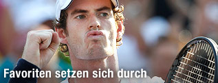 Andy Murray jubelt