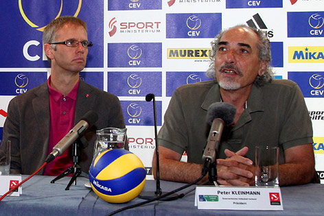 ÖVV-Teamchef Michael Warm und ÖVV-Präsident Peter Kleinmann