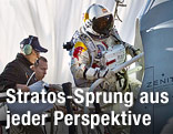 Baumgartner vor der Red Bull Stratos-Kapsel