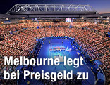 Panorama des Tennis-Stadions in Melbourne