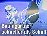 Felix Baumgartner springt aus der Kapsel