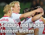 Spieler des FC Salzburg jubeln