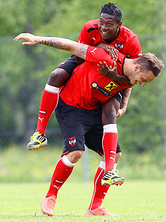 David Alaba und Mark Arnautovic beim Training