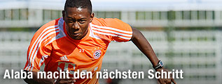 David Alaba beim Training