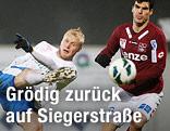 Michael Guselbauer (Linz), David Witteveen (Groedig) und Alen Coralic (Linz)