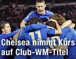 Spieler von Chelsea jubeln