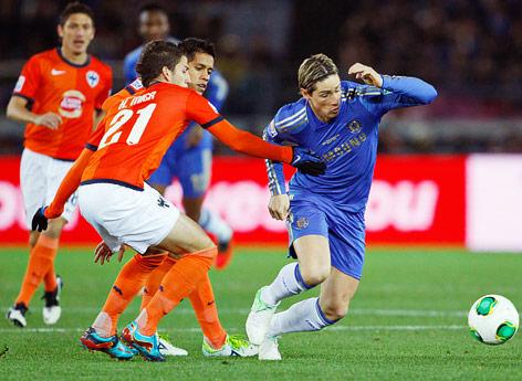 Fernando Torres (Chelsea) und Mier (Monterrey)