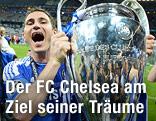 Jubel von Frank Lampard (FC Chelsea) mit Champions-League-Pokal