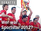 Jubel der spanischen Fußball-Nationalmannschaft nach ihrem Sieg bei der UEFA-Europameisterschaft