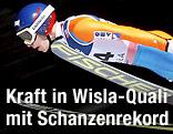 Stefan Kraft bei seinem Sprung zu neuem Schanzenrekord in Wisla