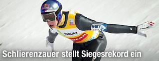 Gregor Schlierenzauer bei der Landung