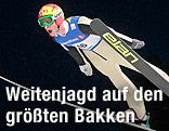 Rekordflug im Jahr 2011 von Johan Remen Evensen in Vikersund