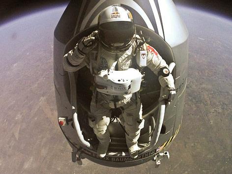 Felix Baumgartner in der Stratosphäre