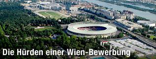 Luftaufnahme vom Ernst-Happel-Stadion