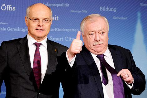 ÖOC-Präsident Karl Stoss und Wiens Bürgermeister Michael Häupl