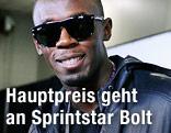 Usain Bolt mit Sonnebrille