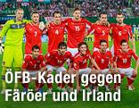 Gruppenbild der ÖFB-Mannschaft