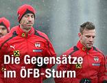 Marc Janko und Andreas Weimann beim ÖFB-Lauftraining