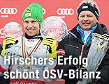 Gesamtweltcupsieger Marcel Hirscher und ÖSV-Sportdirektor Hans Pum