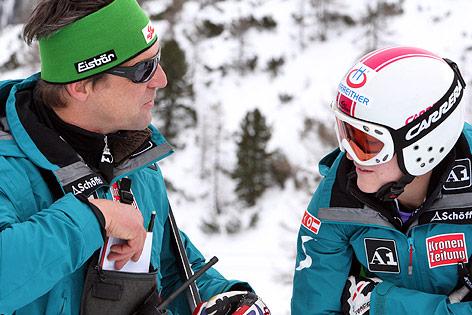 Trainer Jürgen Kriechbaum mit Andrea Fischbacher