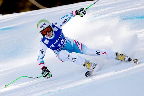 Anna Fenninger beim Super-G in Garmisch-Partenkirchen