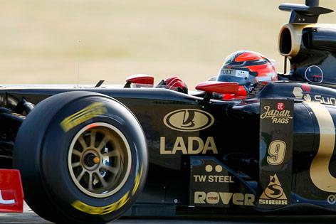 Robert Kubica im Lotus Renault, 2011