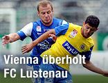 Matthias Hopfer (FC Lustenau) und Hakan Gökcek (Vienna)
