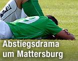 Enttäuschte Mattersburg-Spieler