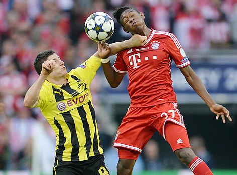 Robert Lewandowski (Dortmund) und David Alaba (Bayern)