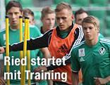 Ried-Spieler beim Training