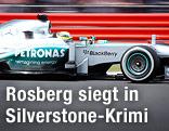 Nico Rosberg (GER/Mercedes) auf der rennstrecke von Silverstone