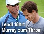 Tennistrainer Ivan Lendl (USA) mit seinem Schützling Andy Murray (GBR)
