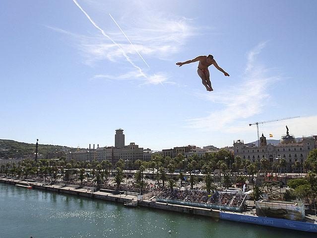 Turmspringer in Barcelona