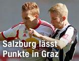 Christian Schwegler (Red Bull Salzburg) gegen Florian Kainz (Sturm)