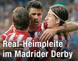 Spieler von Atletico Madrid jubeln