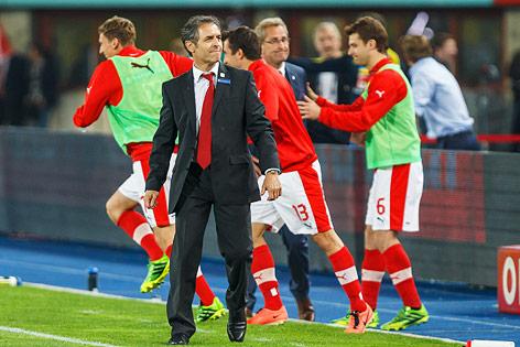 Marcel Koller mit ÖFB-Spielern