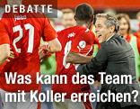 Marcel Koller mit Spielern