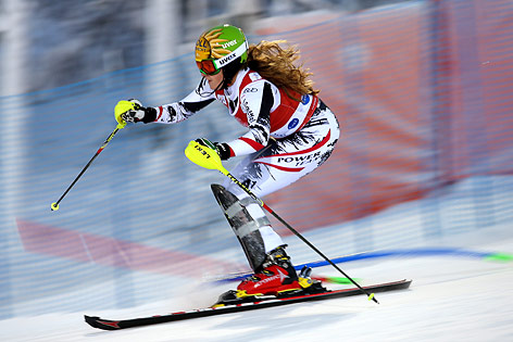 Christina Ager beim Weltcup-Slalom in Levi