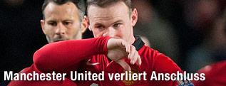 Wayne Rooney (Manchester United) enttäuscht