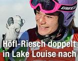Maria Höfl-Riesch jubelt