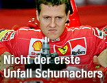 Archivbild von Michael Schumacher als aktiver Rennfahrer für Ferrari aus dem Jahr 1999