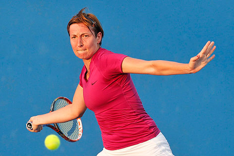 Yvonne Meusburger bei den Australian Open